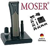 M O S E R Profiline Haarschneider 'E A S Y S T Y LE', Netz / Akku, Edelstahlschneidsatz, LED-Anzeige, von 0,7mm - 25,0mm, 6 Aufsätze
