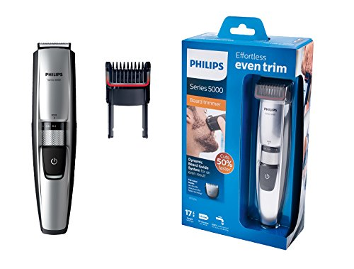 Philips Bartschneider Series 5000 mit dynamischem Haarführungssystem BT5205/16 (17 Längeneinstellungen)