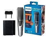 Philips Barttrimmer BT3216/14, 20 verschiedene Looks (0,5 - 10 mm), 3-Tage-Bart leicht gemacht, Reisebeutel, kabellos verwendbar, selbstschärfende Metallklingen, 60min Akkulaufzeit